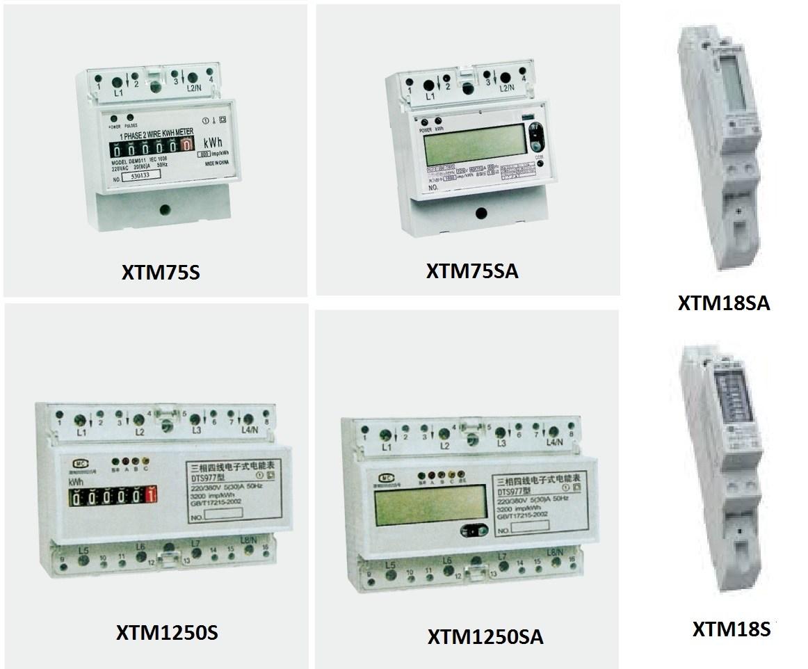 KWH Meter 1 Phase 10/60 XTM75S