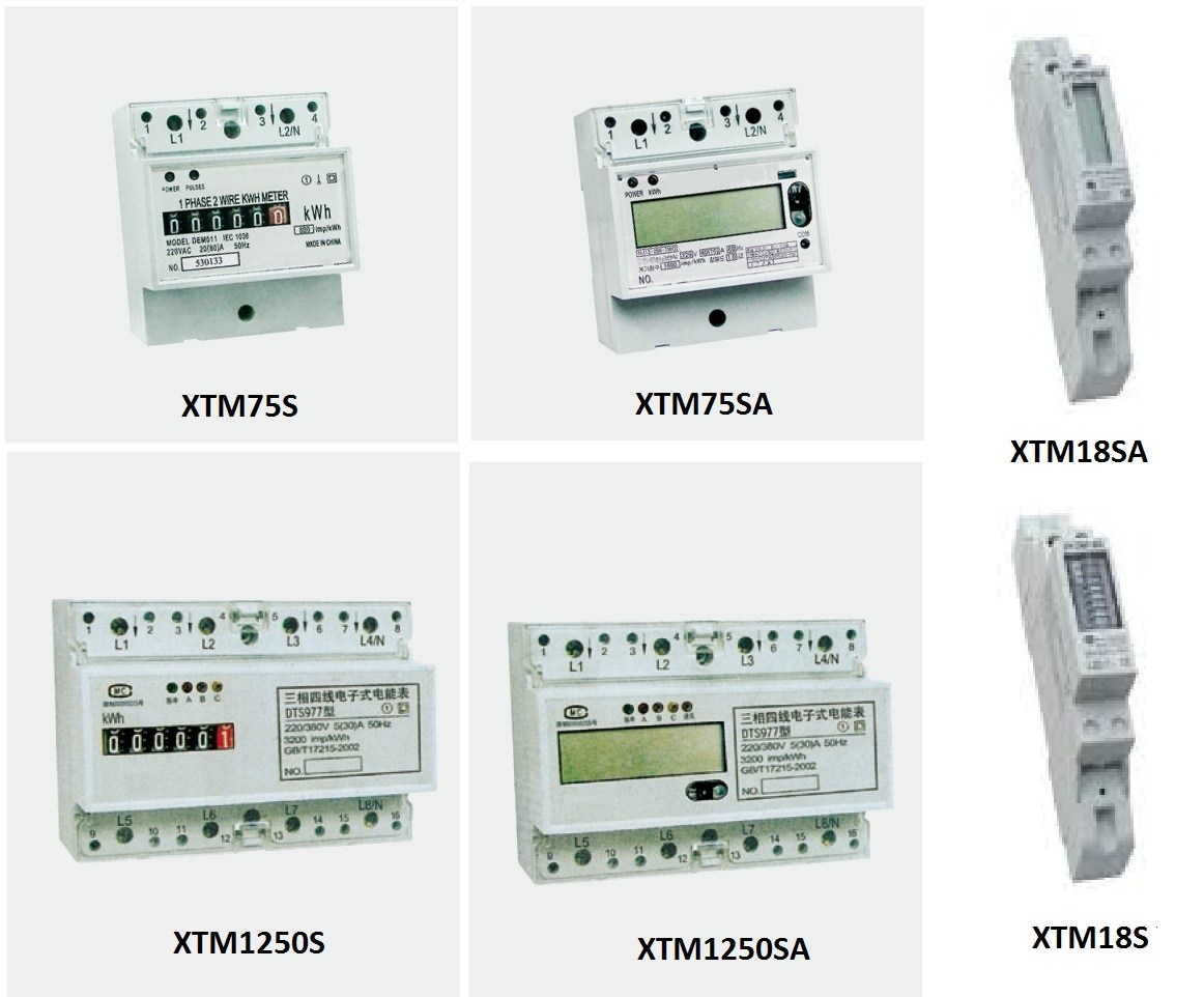 KWH Meter 3 Phase CT …/5A XT