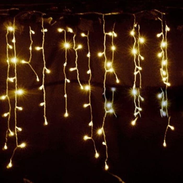 Lampu Natal tirai