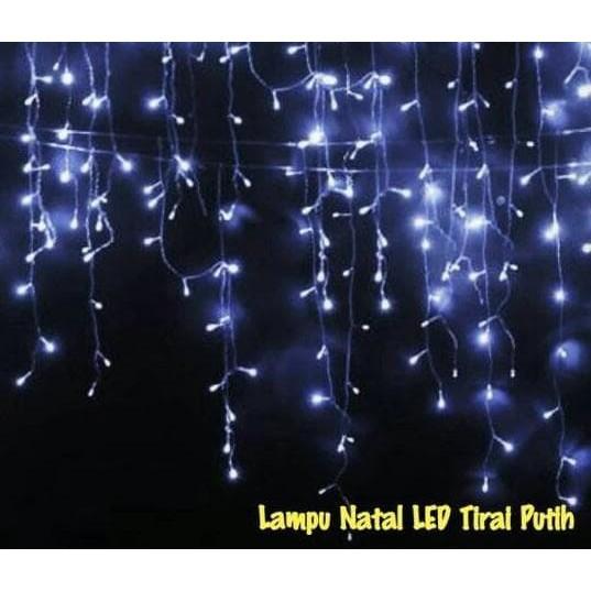 Lampu Natal tirai putih